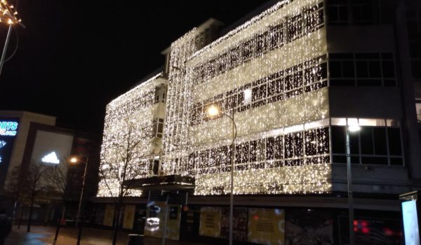 The famous Christmas display is back